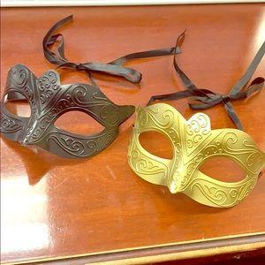 2 Masquerade Masks- Costume